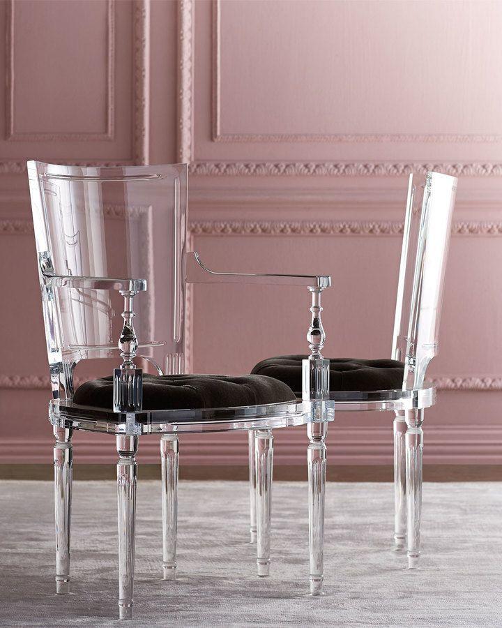 Global Views Acrylic Chair: Global Views Katherine Acrylic Side Chair #chair