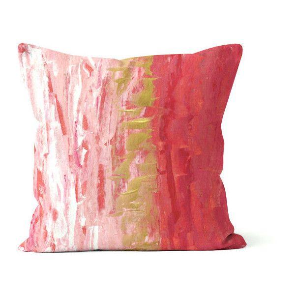 Throw Pillow Cover Pink Rasberry White Mauve Home Decor Abstract Beauteous Mauve Decorative Pillows