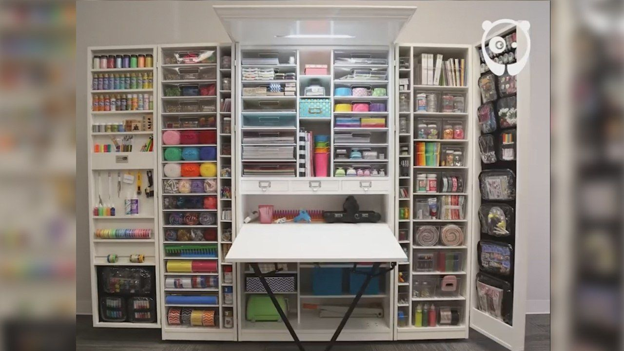 Gallery Of Craft Wardrobe And Workstation Storage Unit From