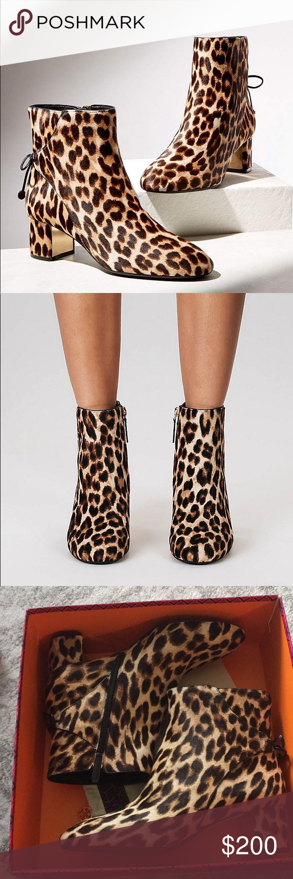 1c861db04d7a Tory Burch Laila Leopard booties Brand new. Size 8. Real calf hair. $448.  Great with any outfit to make it stand out!! Tory Burch Shoes Ankle Boots &  ...