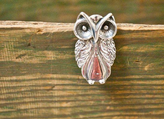 Spoon Brooch Owl by Silver Spoon Jewelry by silverspoonj on Etsy, $48.00