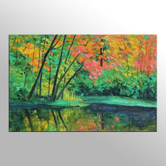 Landscape Paintings On Canvas Landscape Canvas Art Plus