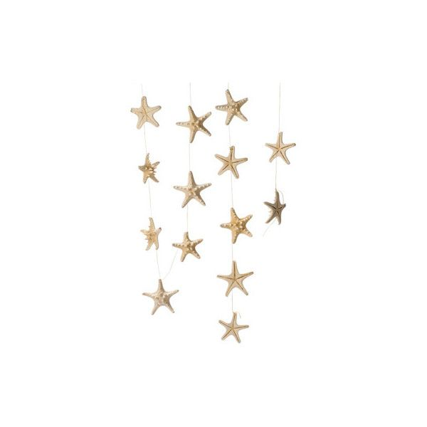 White Knobby Starfish Garland | Jamali Floral U0026 Garden Supplies ($13) ❤  Liked On