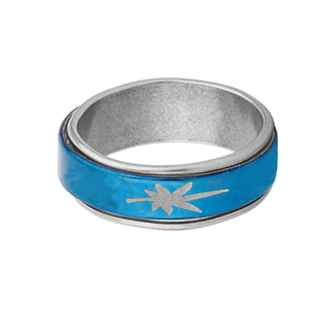CLASSIC SILVER::BLUE LATEST DESIGN THUMB RING mens silver ring ...