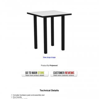 Discount Euro 36 In. Bar Table In White W Textured Black FrameEuro 36 In.