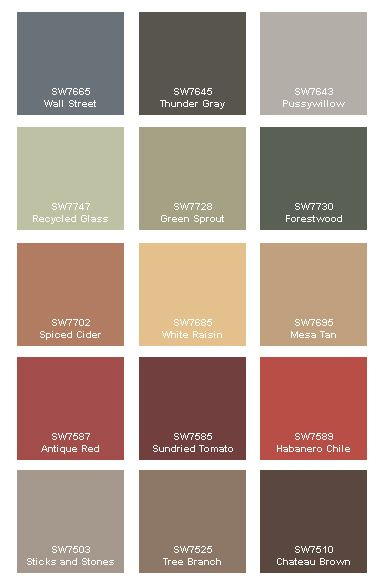 Paint Colors On Pinterest Cabin Paint Colors Rustic Color Palettes