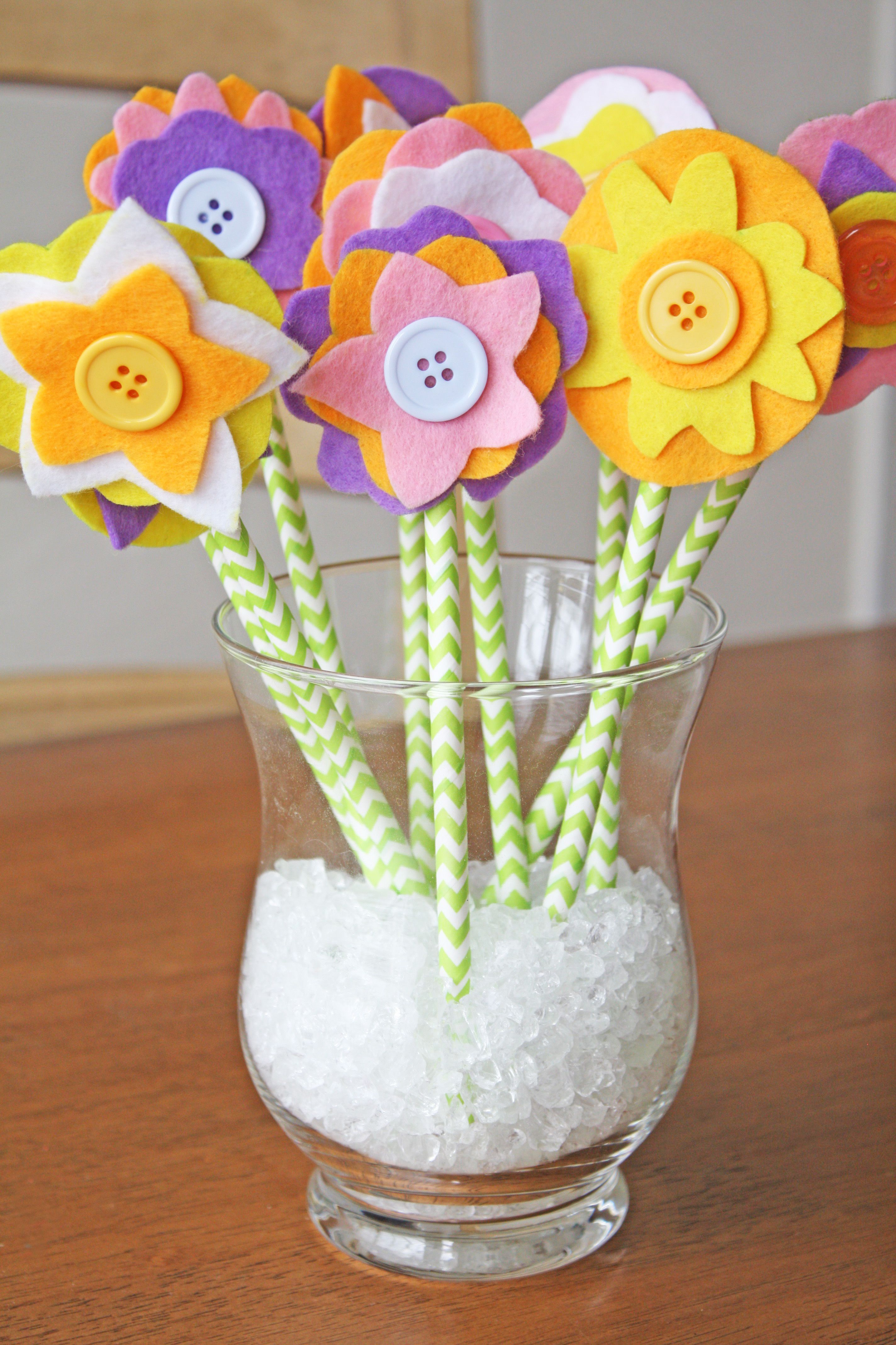 Diy Felt Flower Bouquet Holidays New Years Fathers Day