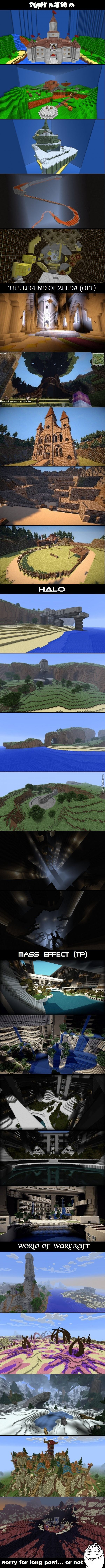 Video game maps in minecraft= awesome! Love the temple of time!