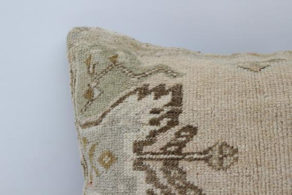 Organic Pillow,Pillow Case, Beige Pillow, Rug Pillow, Throw Pillow,Soft Pillow,Saloon Pillow 16x16,