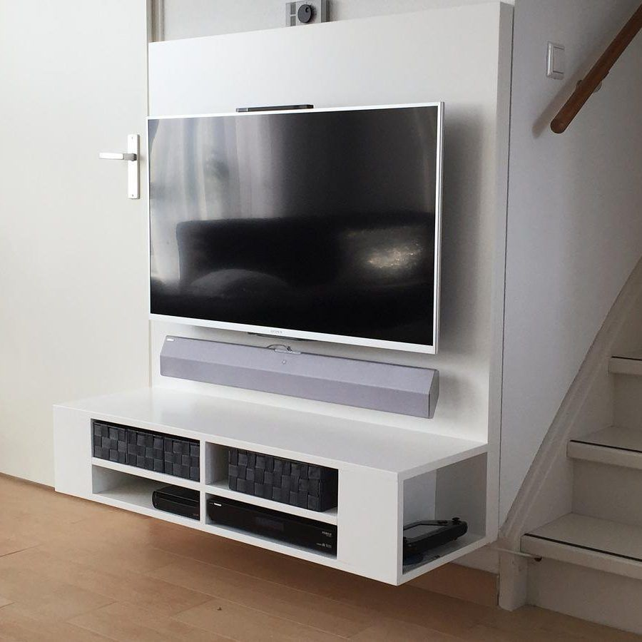 Build a floating tv unit make this professionally