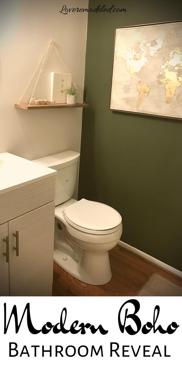 Boho Bathroom Reveal A Modern Bathroom On A Budget Boho Bathroom Modern Boho Bathroom Diy Bathroom Decor