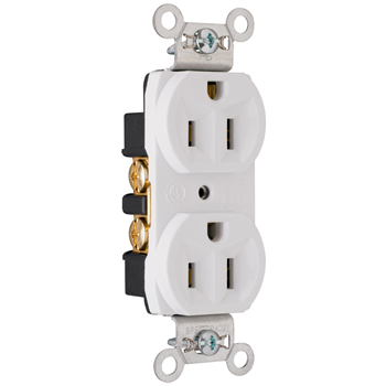 Pass Seymour Crb5262w 15 Amp 125 Volt Construction Spec Grade Receptacle Back And Side Wire White Electrical Outlets Wall Outlets Wire Installation