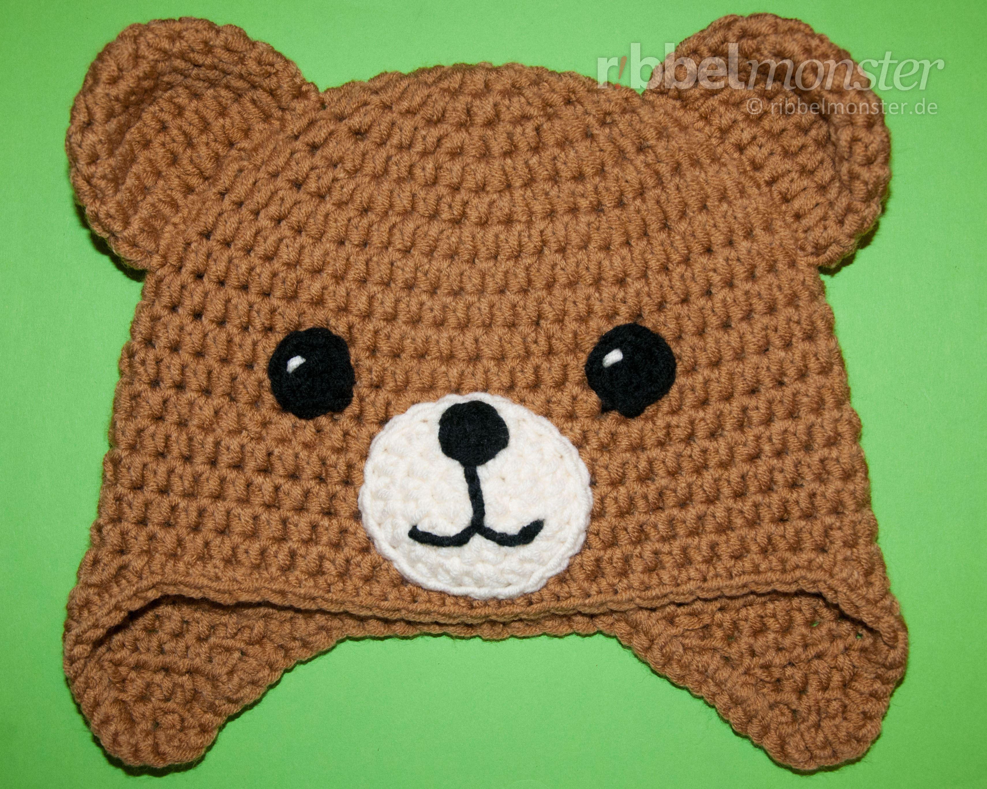 Diese Teddy Mütze häkeln sogar Anfänger in jeder beliebigen Größe ...