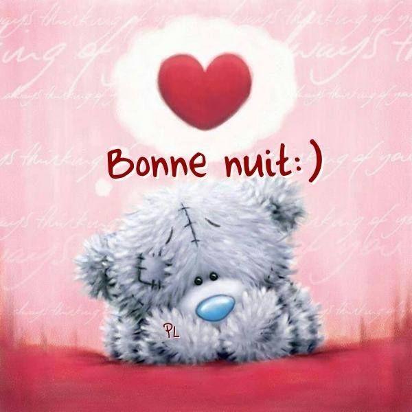 Bonne nuit bonne nuit good night bonne nuit carte bonne nuit et bonne nuit romantique - Coeur nounours ...