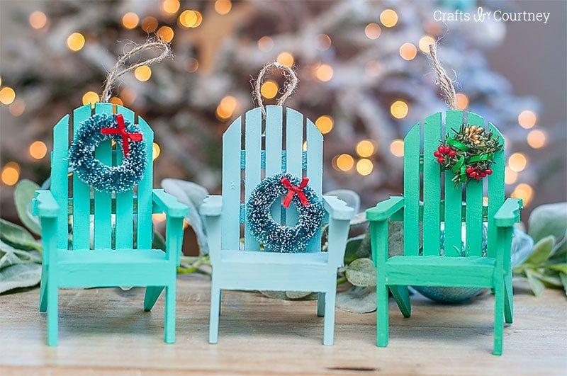 Beach Chair Coastal Ornament Coastal Ornament Beach Chairs Diy