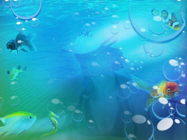 dentro del mar #fotomontajes #fotografía #publicidad