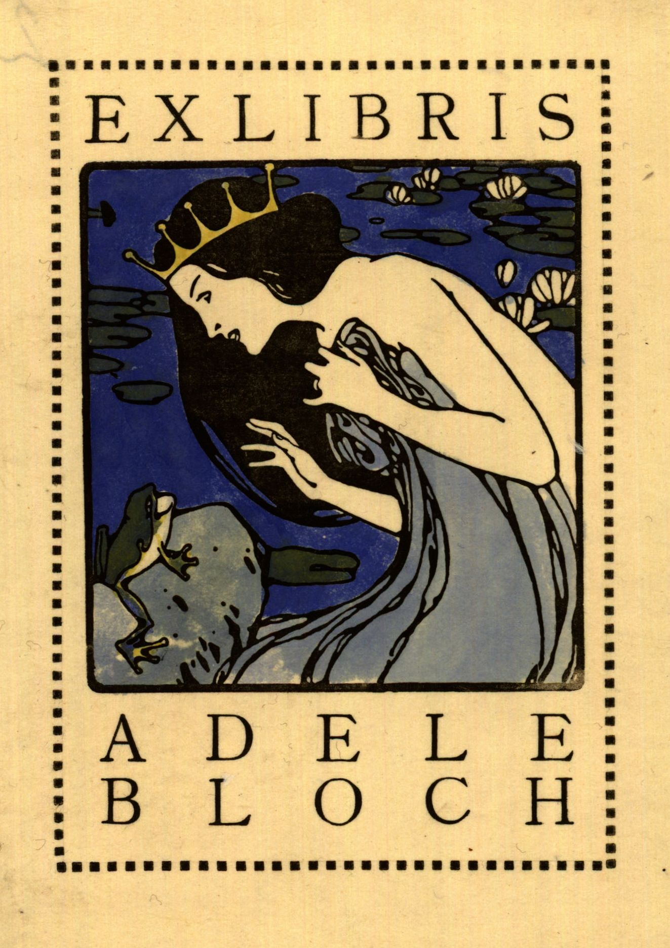 Wunderbar Here Is The Bookplate Of Gustav Klimtu0027s Famous Model, Adele Bloch Bauer, By  The Famous Art Nouveau Artist Koloman Moser