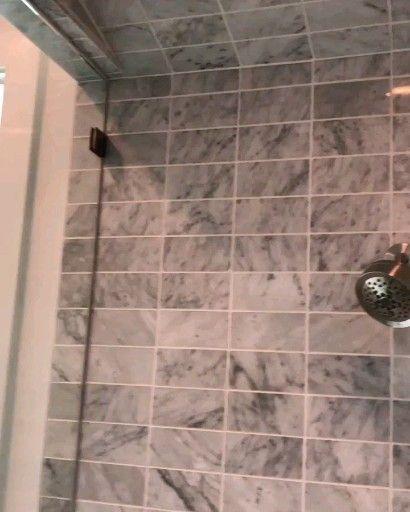 Carrara Marble Installation Of 36 Carrara Marble On Steam Shower Steamshower Carraratile Marble C In 2020 Shower Tile Bathroom Shower Tile Bathroom Shower Design