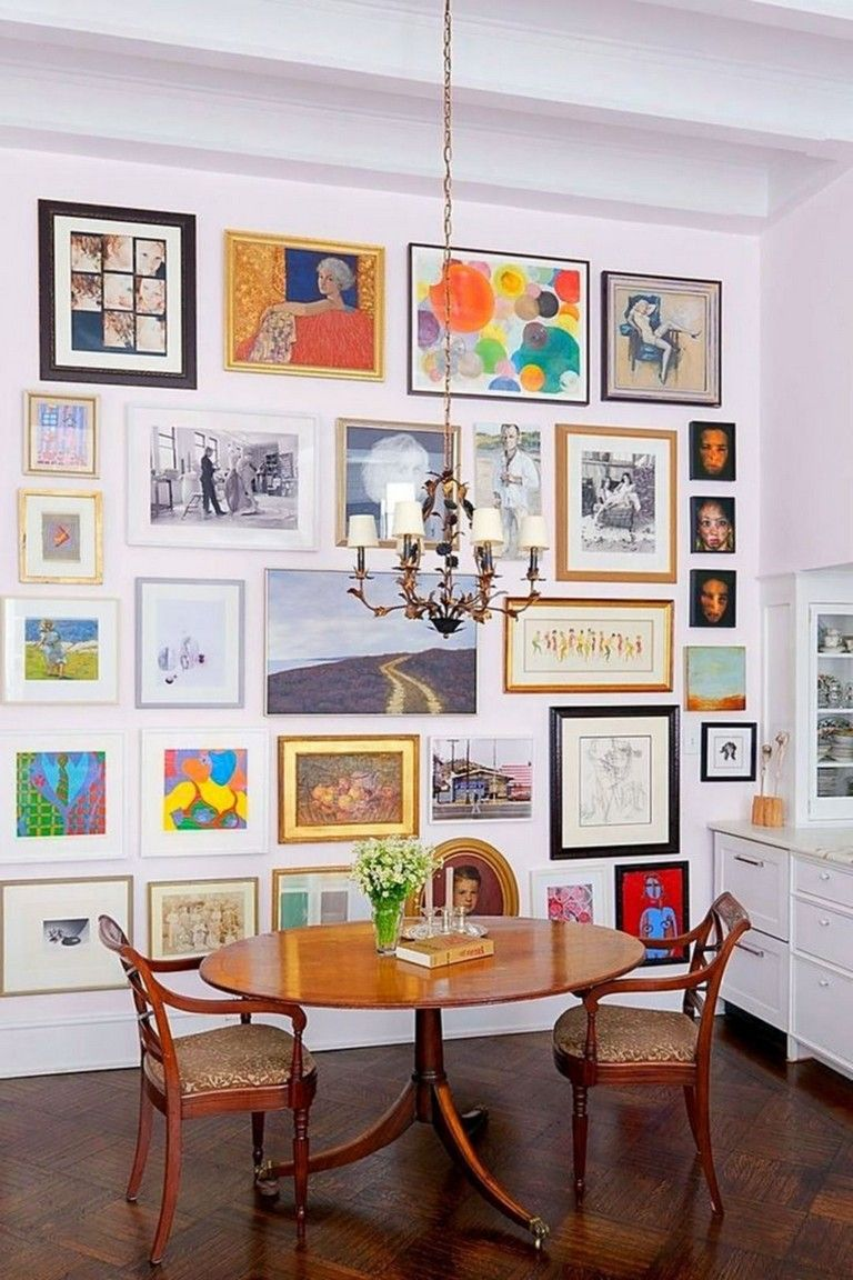 Top 19 Beautiful Wall Art Gallery Ideas For Decoration Your Wall Living Room Gallery Wall Living Room Gallery Wall Design Home Decor