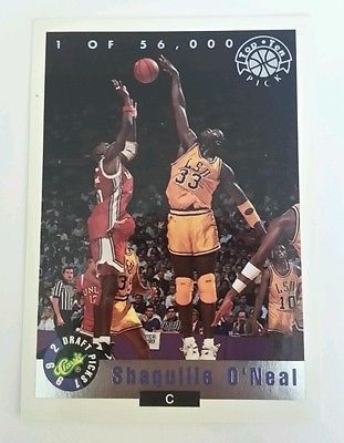 1992 SHAQUILLE ONEAL CLASSIC DRAFT PICKS ROOKIE LP1 LSU TIGERS ORLANDO MAGIC