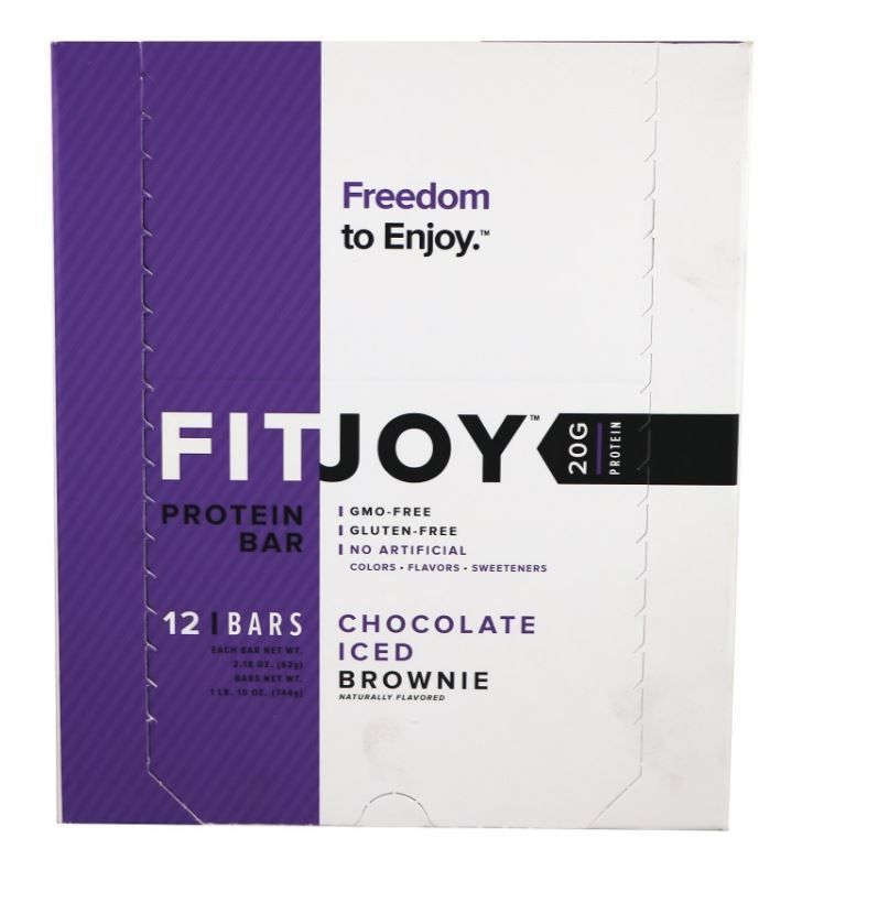 Fitjoy Nutrition Protein Bars Birthday Cake Batter 12 Count For Sale Online
