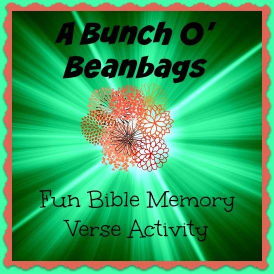 Bible Lessons for Kids: A Bunch O' Beanbags - A Fun Bible Memory
