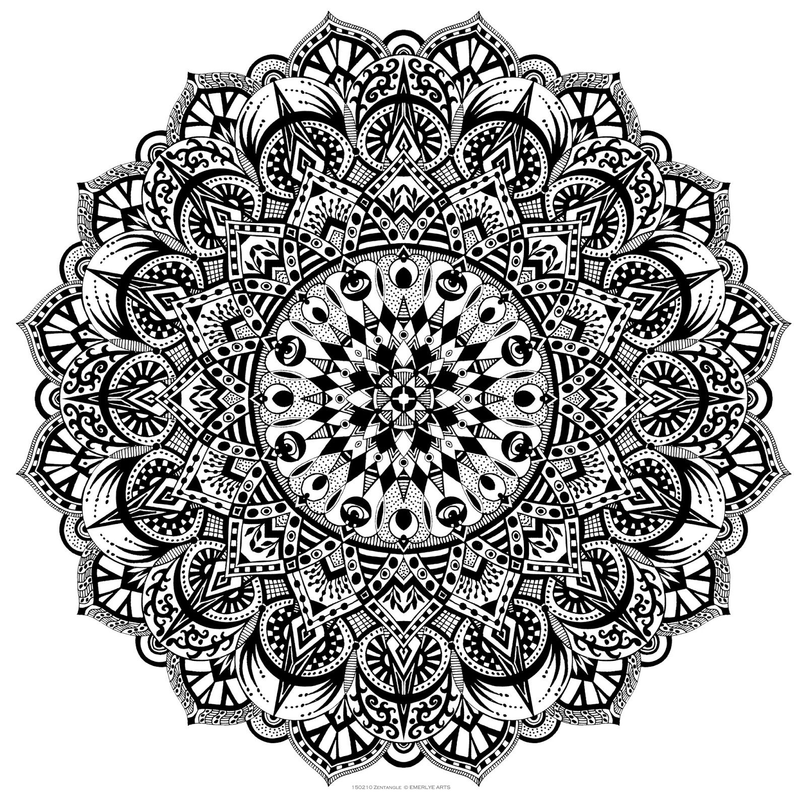 really cool really intricate black white zentangle mandala coloring pages pinterest. Black Bedroom Furniture Sets. Home Design Ideas