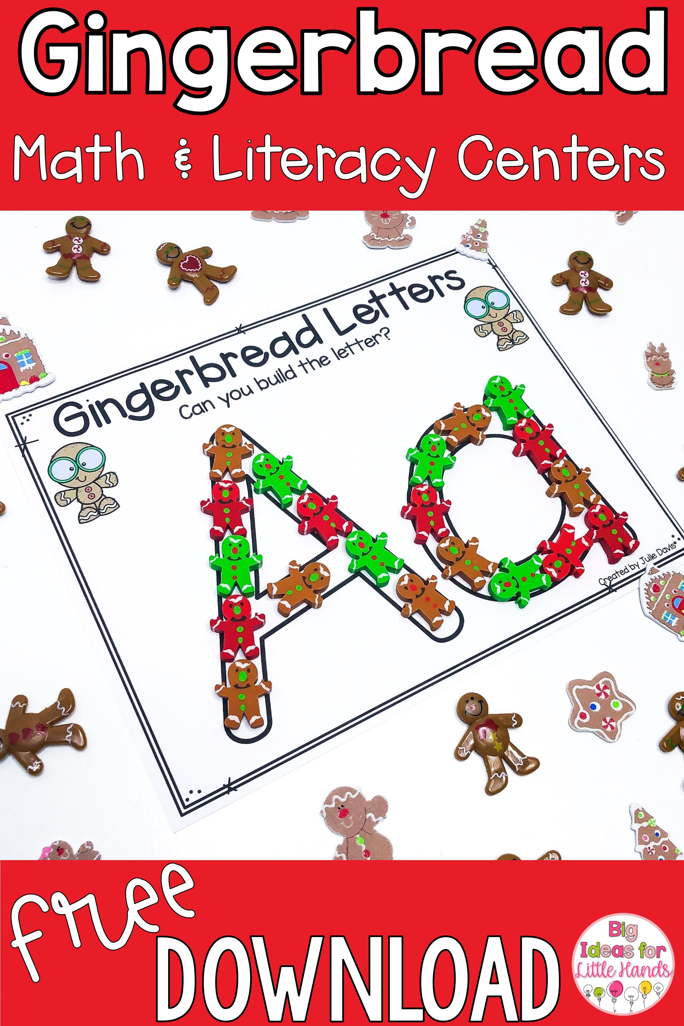 Math And Literacy Gingerbread Freebies In