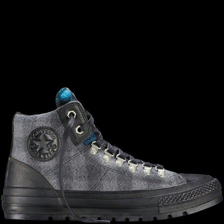 Dark Grey Converse All Star High Line Shroud Hi Trainers