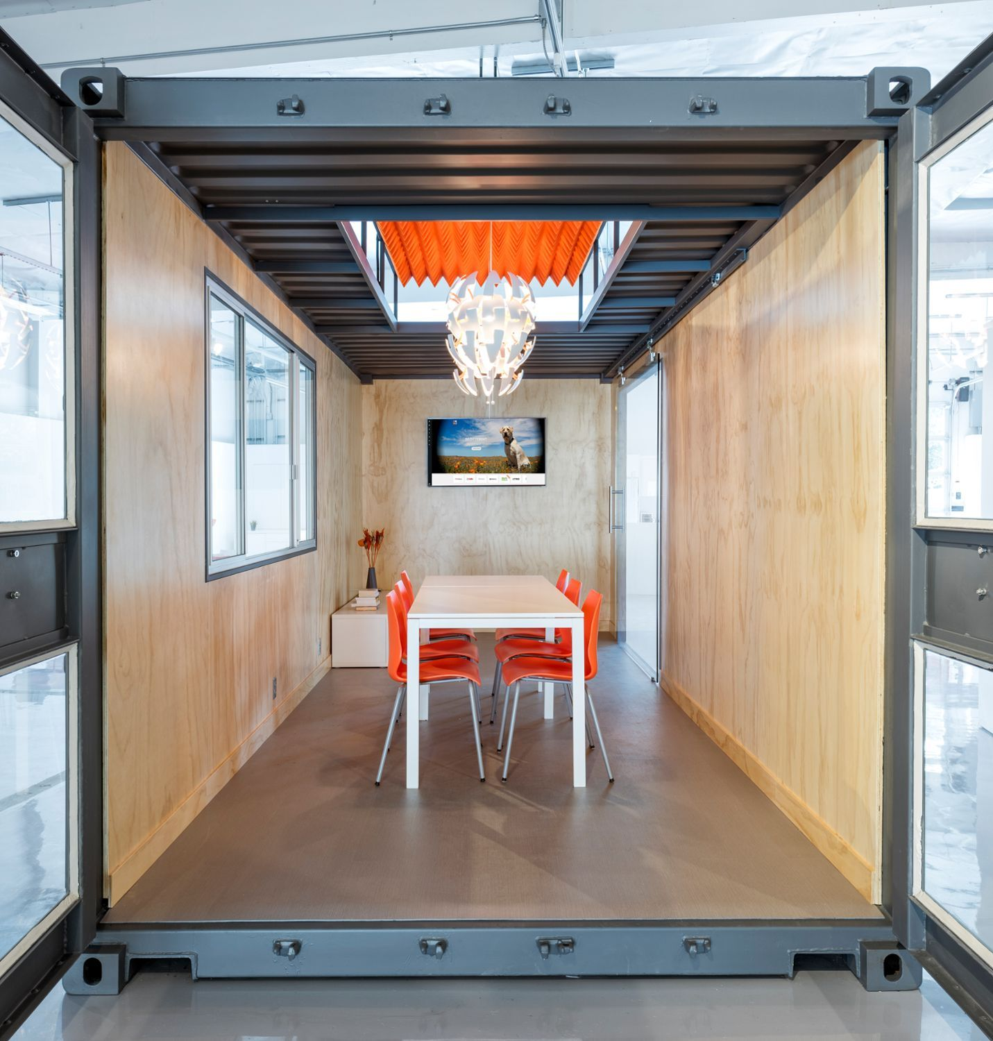 Kontor Container Office Shipping Container Office Grey