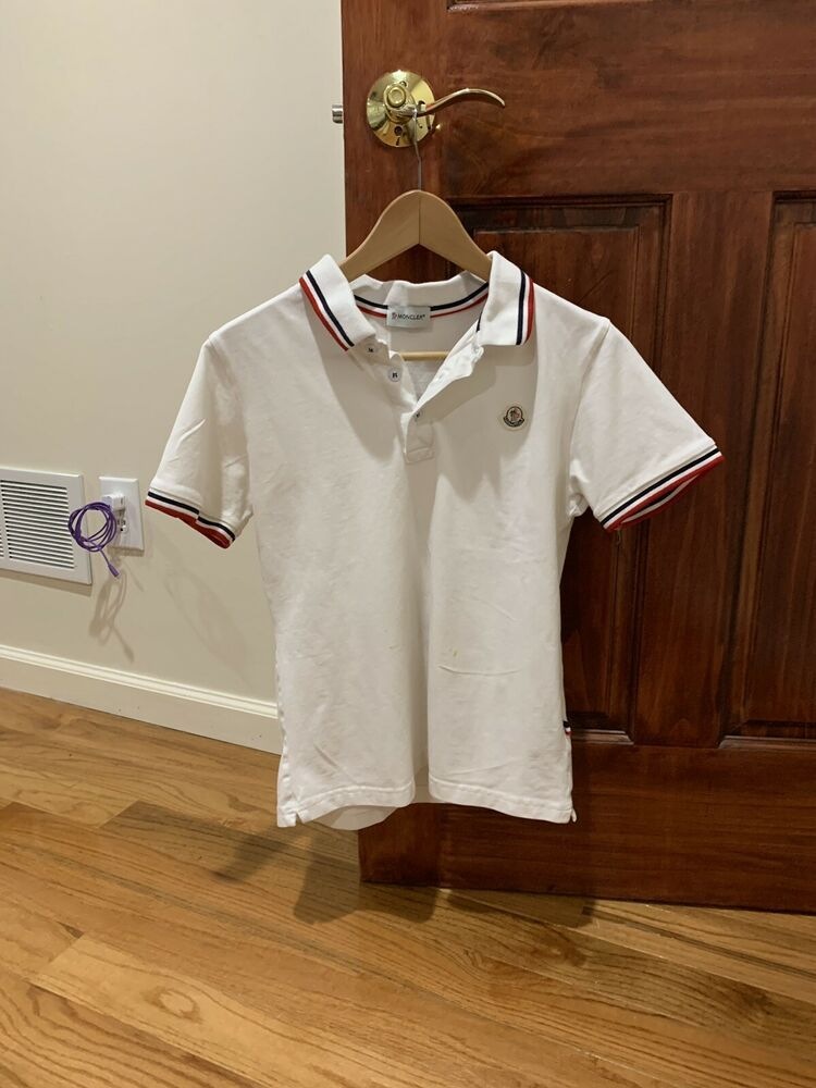 8c27e3c0f MONCLER Mens White Polo Shirt Size Medium With Hologram #fashion ...
