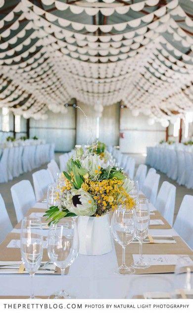Piet Eugenie Lien S Diy Karoo Wedding Wedding Ceiling Decor