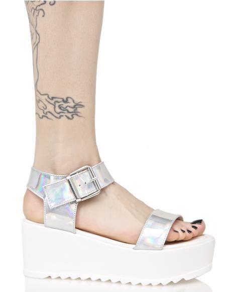 76c5596c8f8d Hologram Sidney Platform Sandals cuz yer a step above the rest