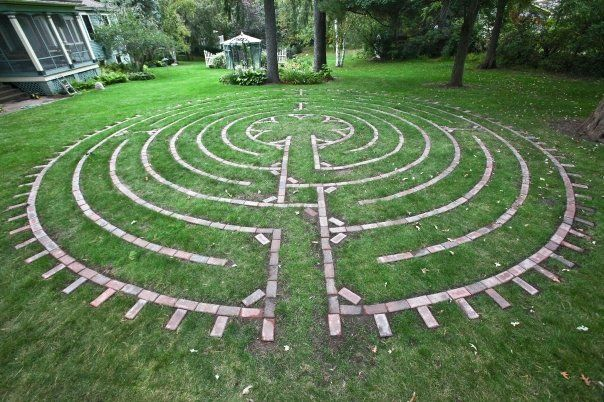Labyrinth Designs Garden add magic why not a labyrinth or tree house or outdoor shower its Labyrinths Are Ancient Symbols Which Can Be Found Imprinted On The Oldest Of Coins Drawn