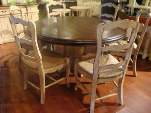 Another Idea To Revamp My Existing Dining Set Country Kitchen Tables French Country Dining Round Dining Table
