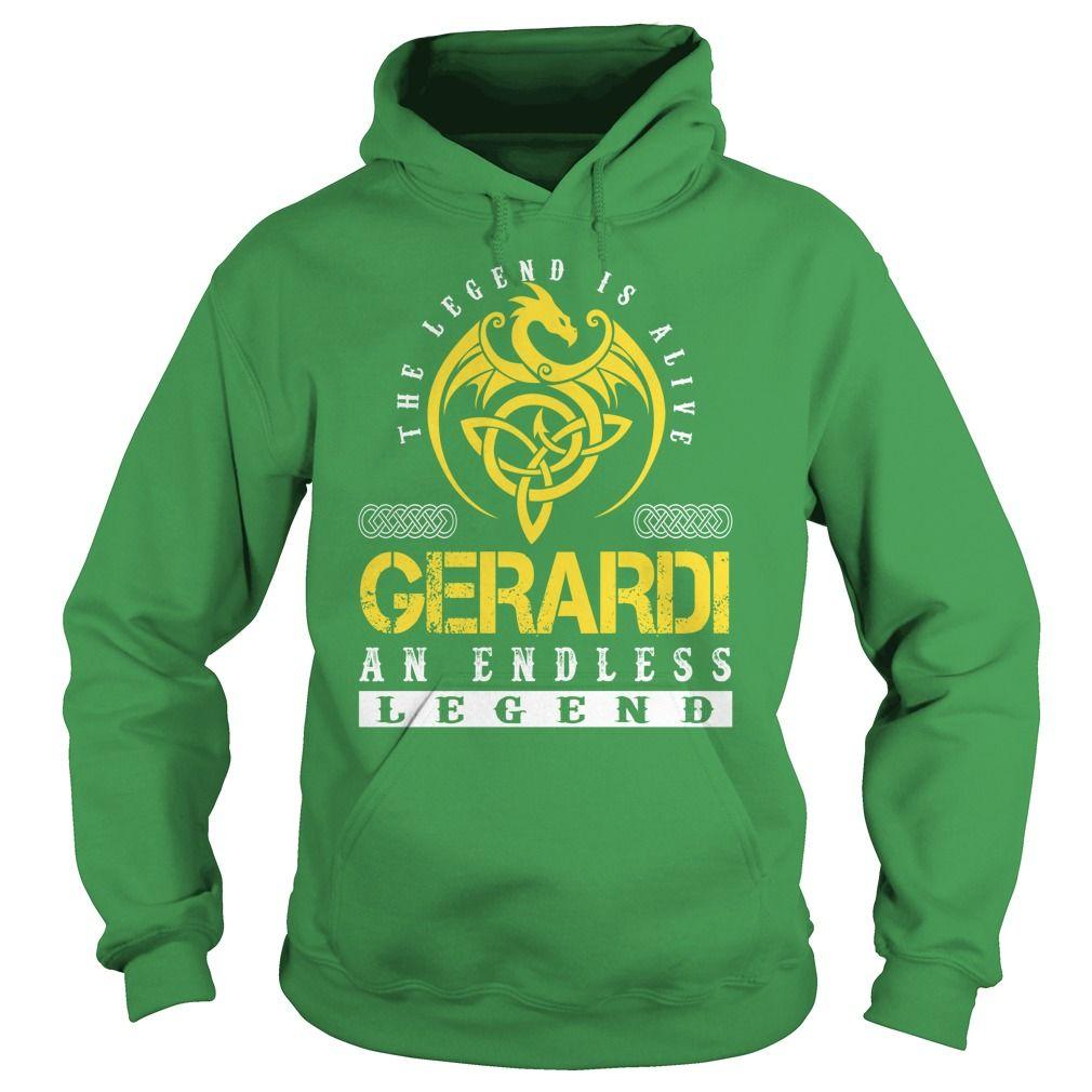 The Legend is Alive GERARDI An Endless Legend - Lastname Tshirts