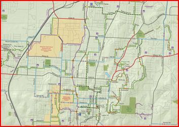 FAYETTEVILLE TRAILS AND GREENWAYS MAP, FAYETTEVILLE, ARKANSAS ...