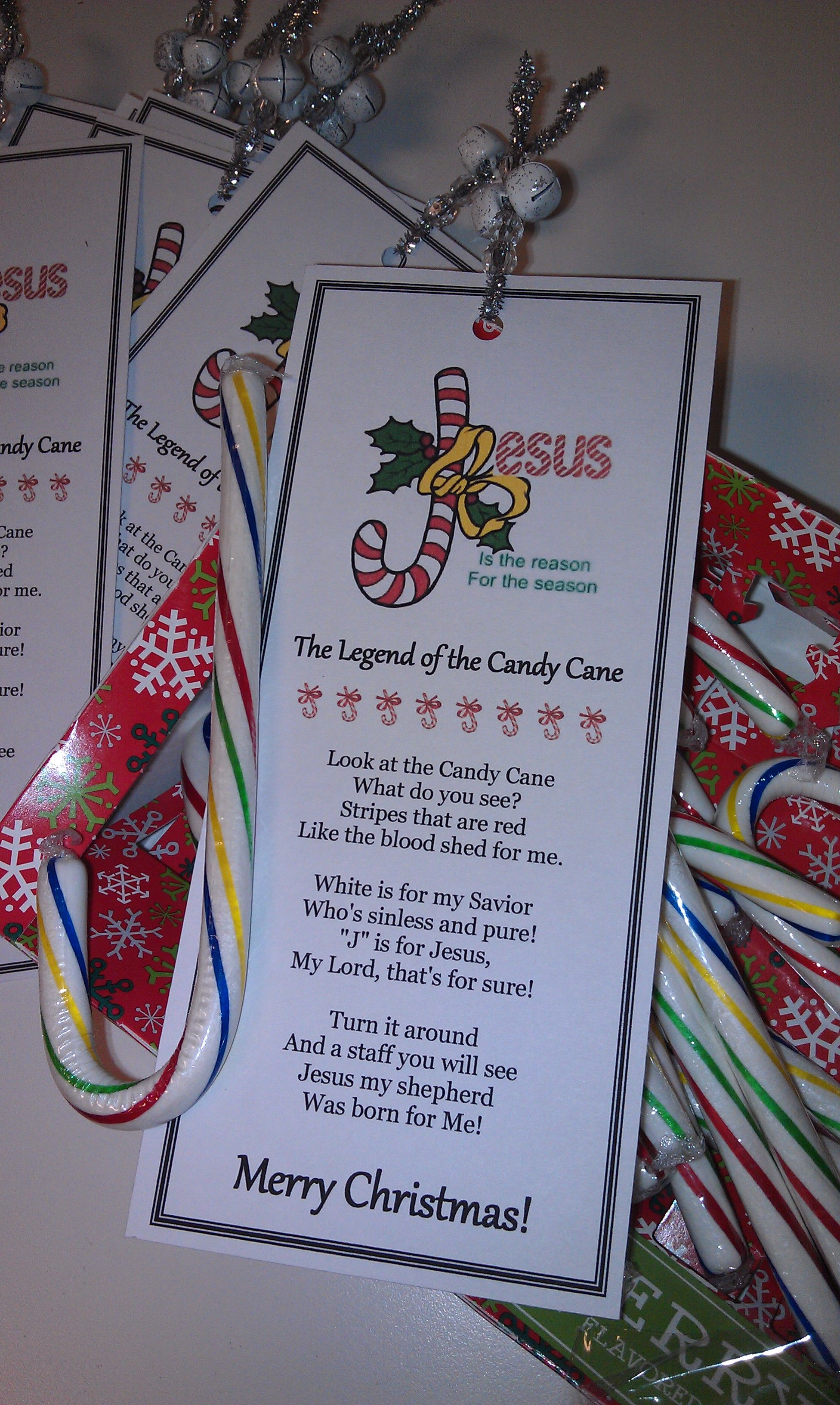 Made these cute bookmarks for my AWANA Cubbies group for Christmas