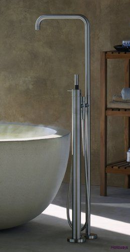 Vola, Freestanding bath fillers available in colour, Bath taps ...