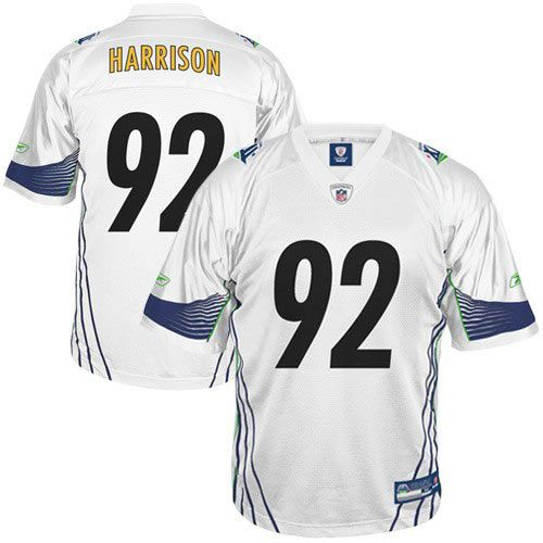 newest fe4ae 728ea Reebok Pittsburgh Steelers 92 James Harrison Super Bowl ...
