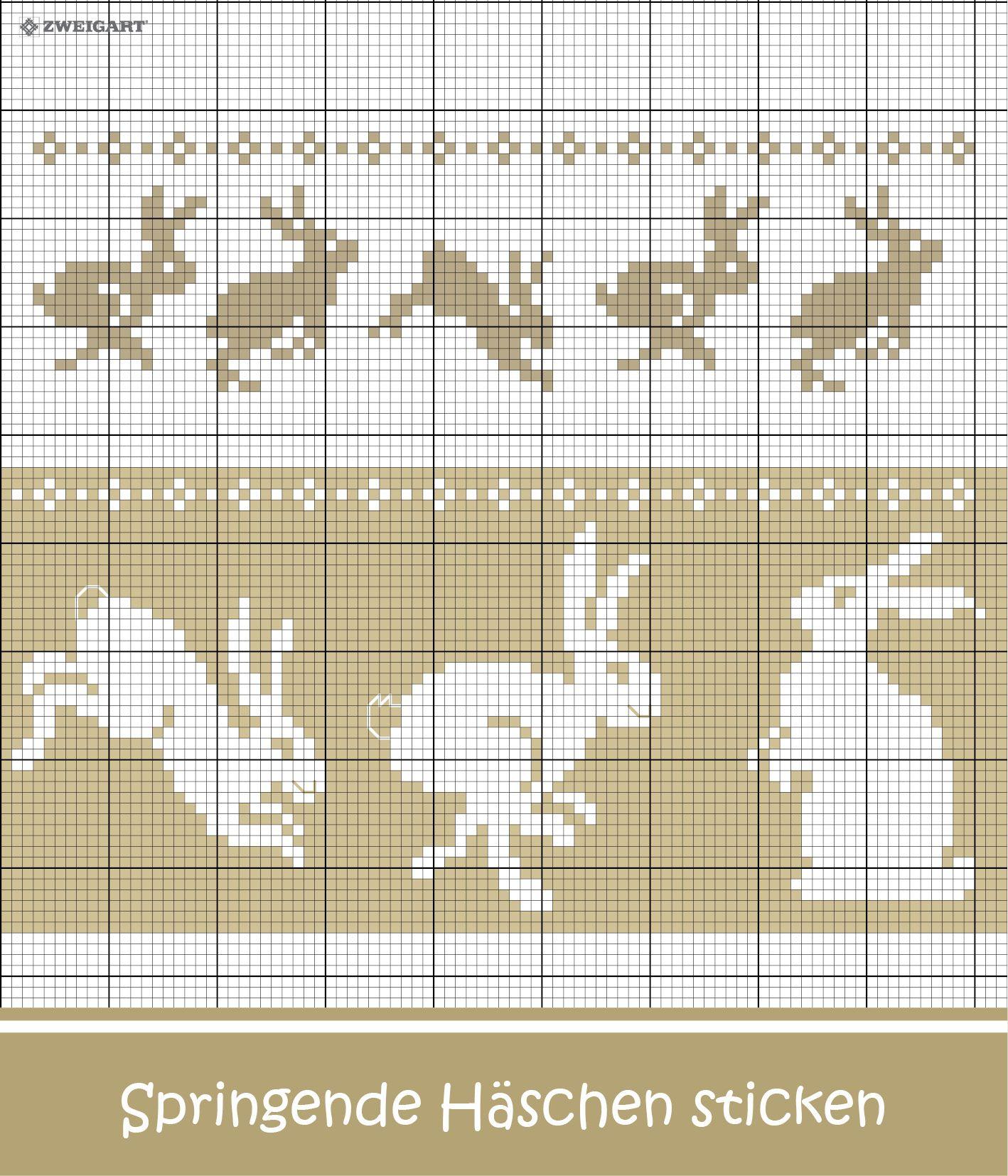 Springende Hasen sticken - Entdecke zahlreiche kostenlose Charts zum ...