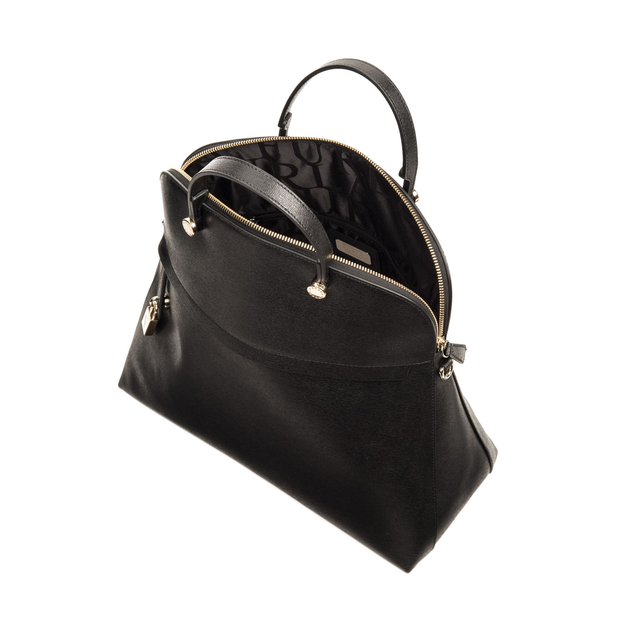 96aceaccf4 Women's Black Piper Leather Tote | bag love | Leather, Furla, Black