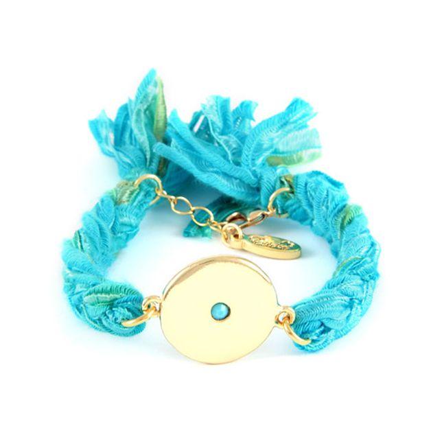 Disc Vintage Ribbon Bracelet