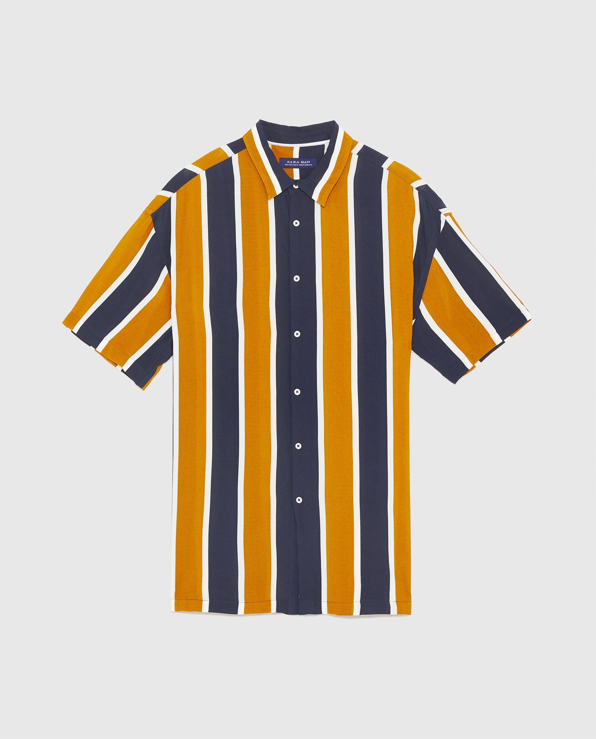 Verticales Vertical Shirts Rayas 2019 Camisa Fluida En Stripes ExZw0zq7