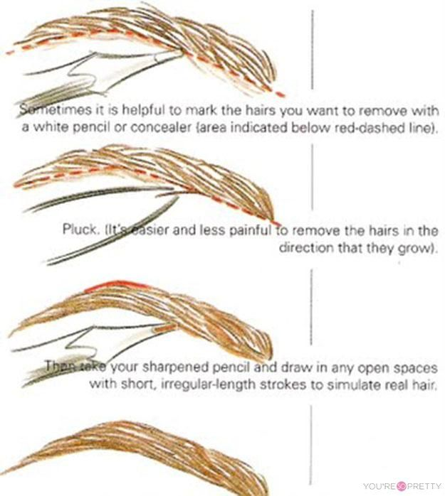 What The Best Way To Pluck Eyebrows Makeup Pinterest Pluck