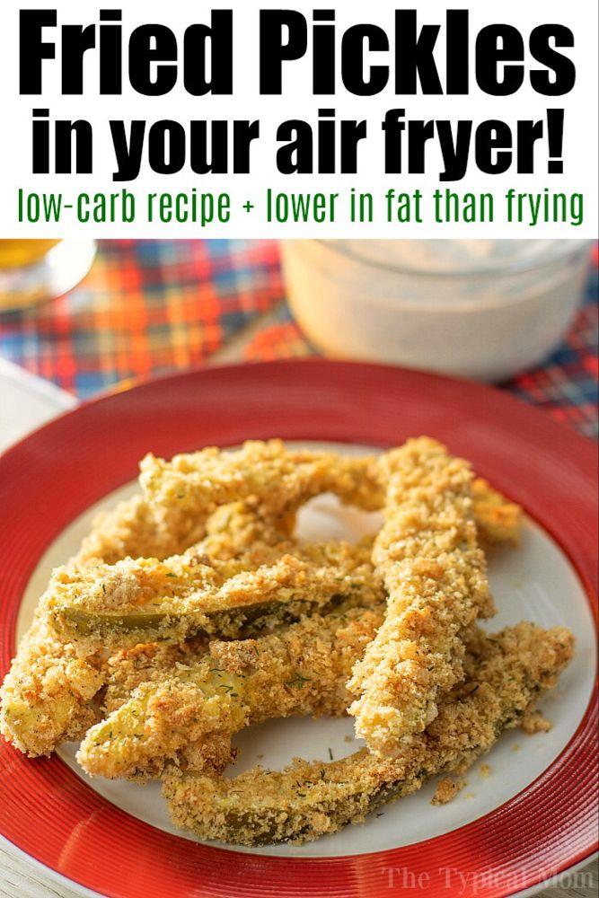 The Best Air Fryer Fried Pickles Low Carb Ninja Foodi