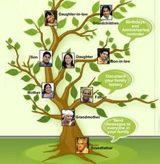make a family tree with help from relatives family members