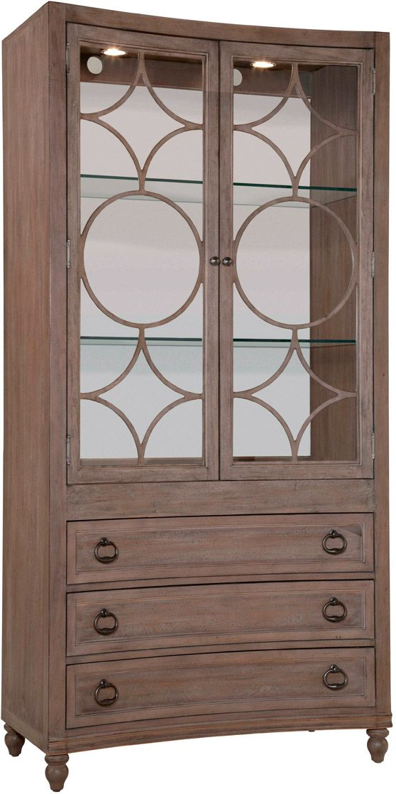 Caravan Bunching Curio Curio Cabinet Bassett Furniture Family Room Furniture