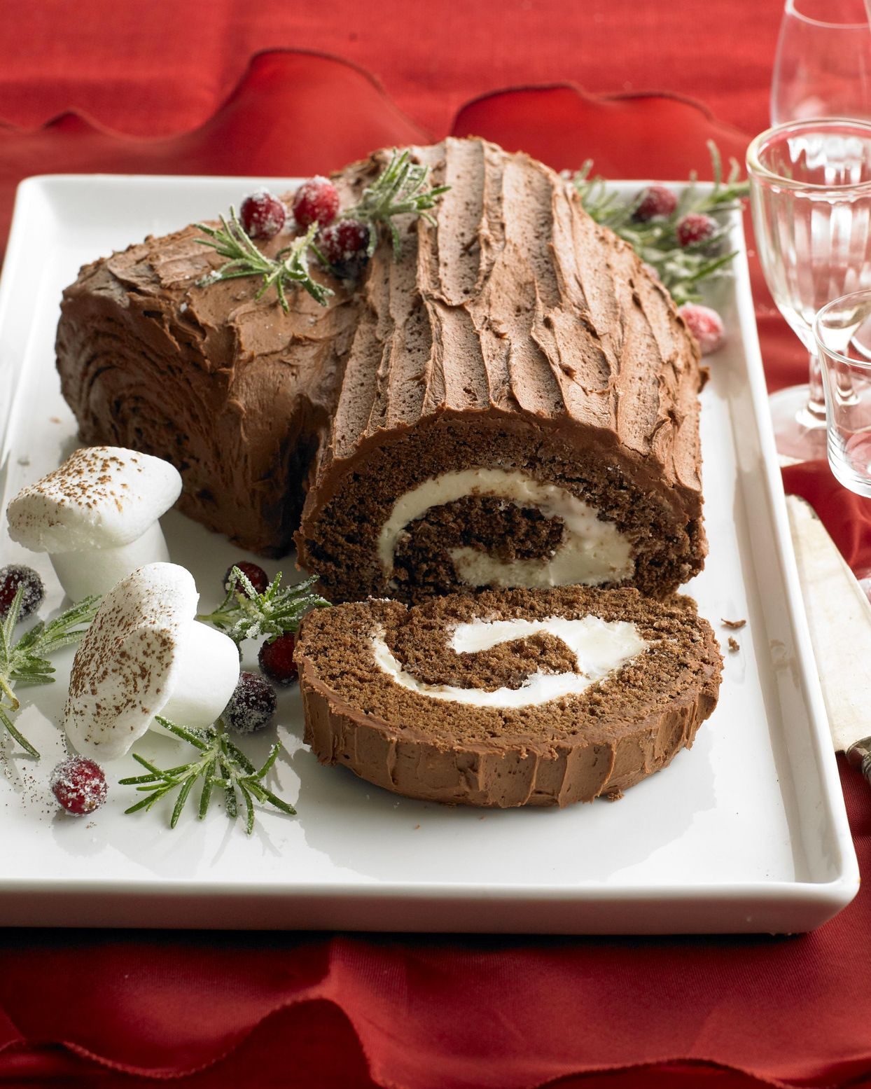 Gather Your Family For This Traditional Christmas Dinner In 2020 Vintage Holiday Recipes Cake Roll Traditional Christmas Dinner