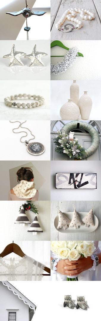 White Christmas by piscesandfishes on Etsy--Pinned with TreasuryPin.com
